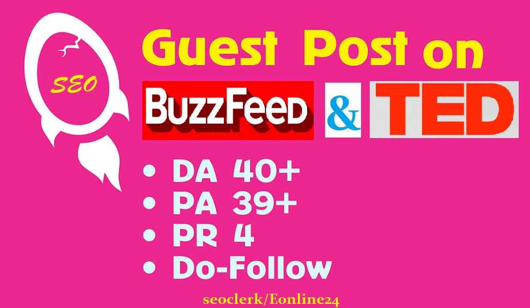 Media Guest Post On TED.com DA 96 and BuzzFeed. com Da85+