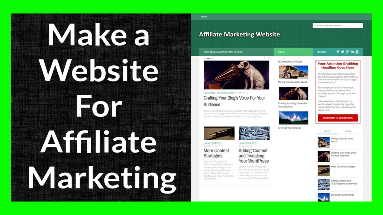 Create Affiliate Marketing Website