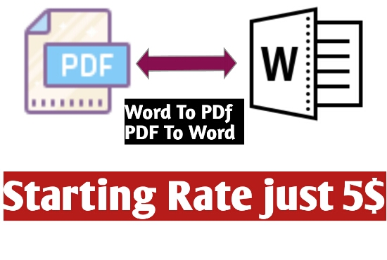 file conversion word to pdf or pdf to word