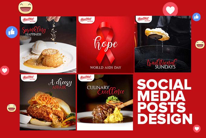 design social media posts graphics for facebook, instagram
