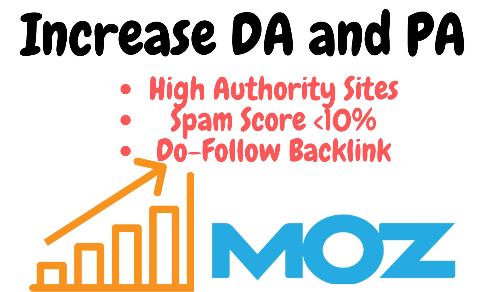 Increase MOZ DA (Domain Authority) PA (Page Authority) of your website with dofollow backlinks