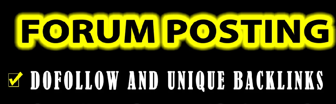 2000 + forum posting Backlinks by manually