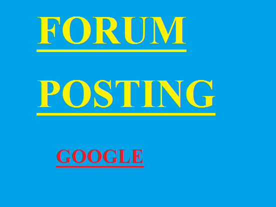 Rank on Google manually 2050 + forum posting Backlinks By Own