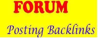 2000 + forum posting Backlinks Rank on Google Alexa by exclusive manually