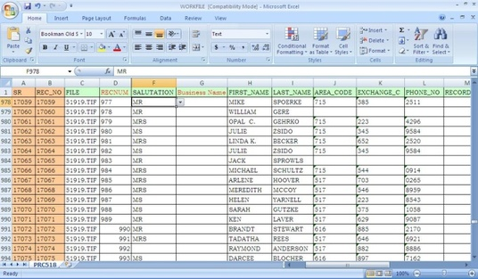 Doing all kind of data entry project.