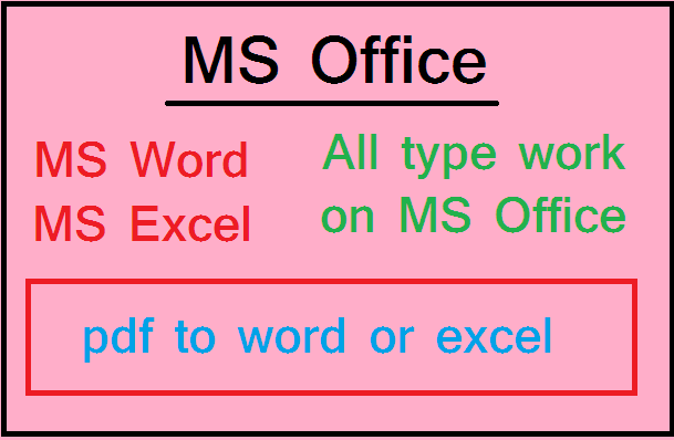 MS WORD OR EXCEL DATA ENTRY WORK FULL TIME
