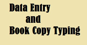 Data Entry Job and Book copy typing