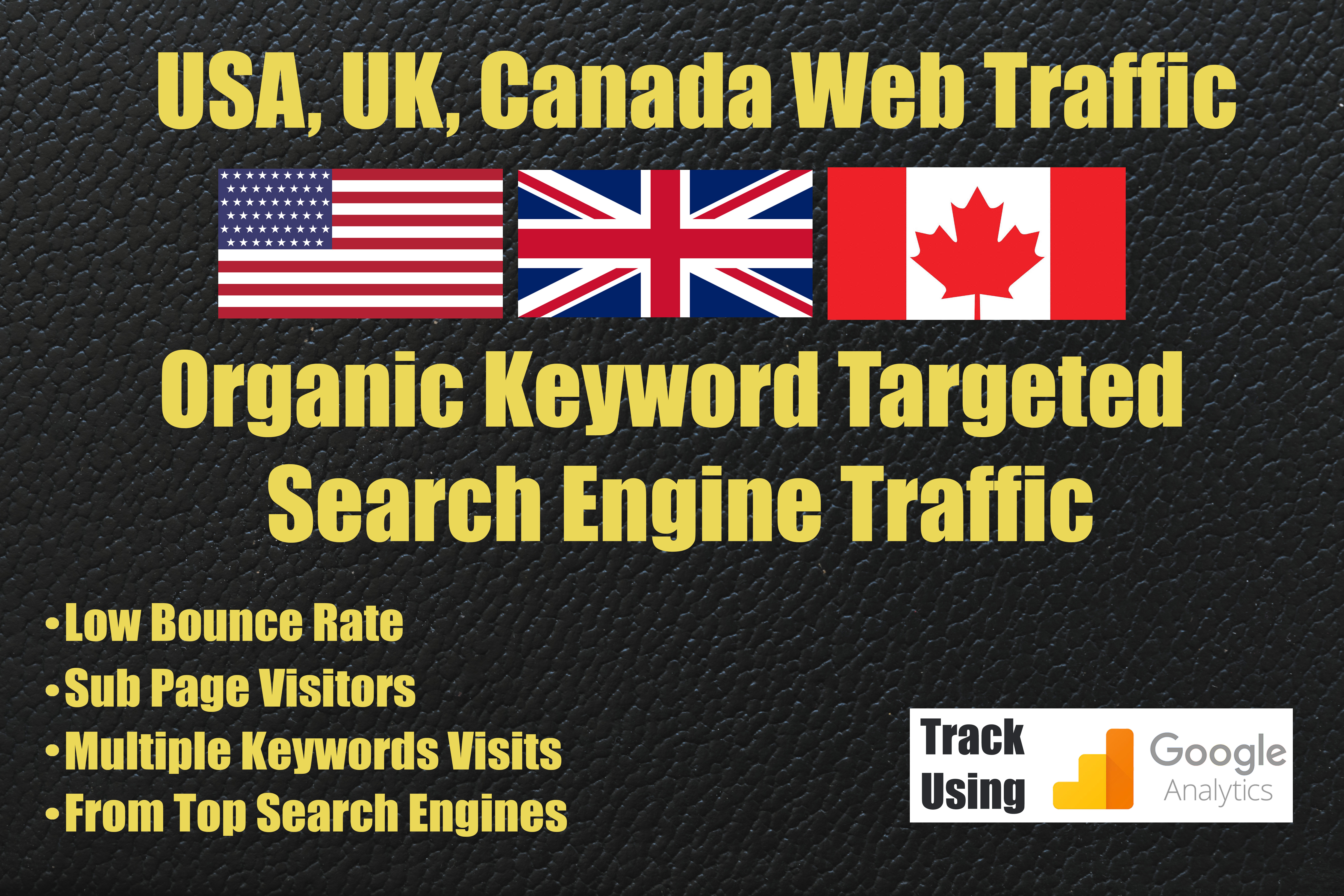 USA UK Canada Google Organic Traffic for 15 days
