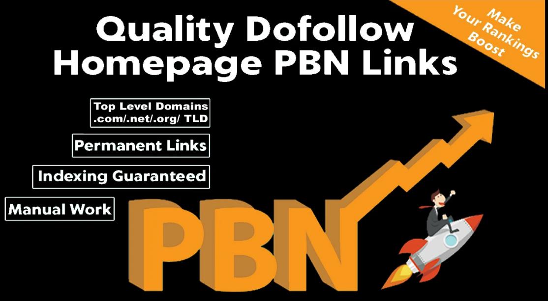 Build 5 High DA PA TF CF DR PR permanent Homepage Do-follow PBN Backlink
