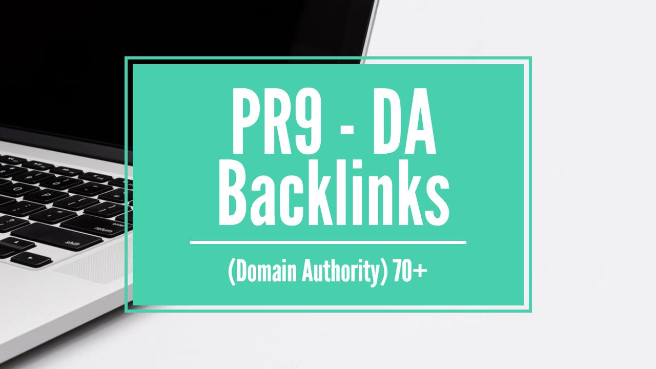 Create 10 PR9 - DA Domain Authority Backlinks for your Website