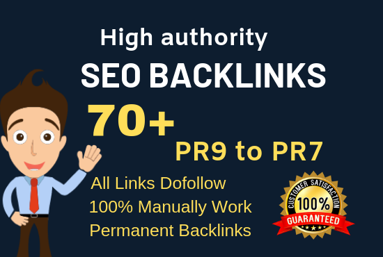 I will submit 70 pr9 da 90 high authority profile backlinks