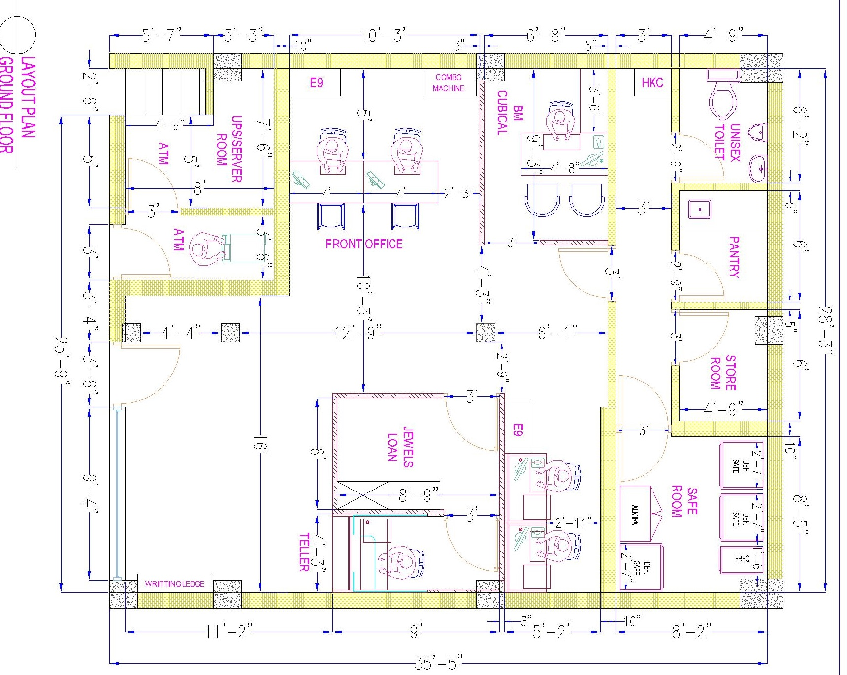 Autocad 2d Civil, Interior And Mechanical Drawings