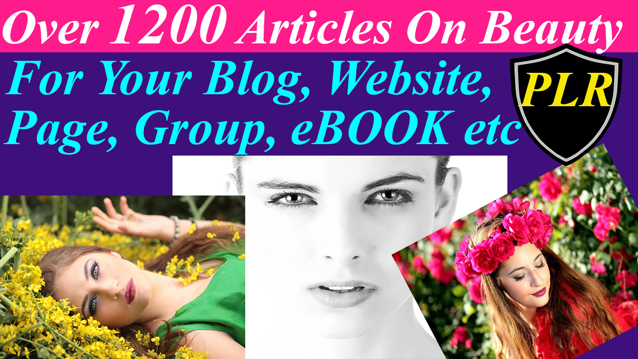 Get 3000Articles 15EBOOKS On Beauty Skin Care Hair and Acne with 63000 other articles on all niches