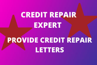 i will provide attorney written credit repair letters for 2021