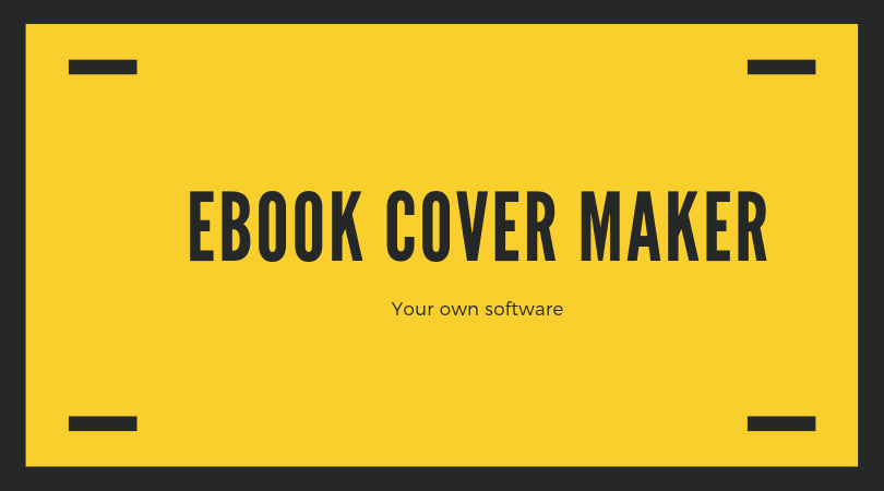 PRETTY EASY TO USE - EBOOK COVER MAKER! SPECIAL OFFER