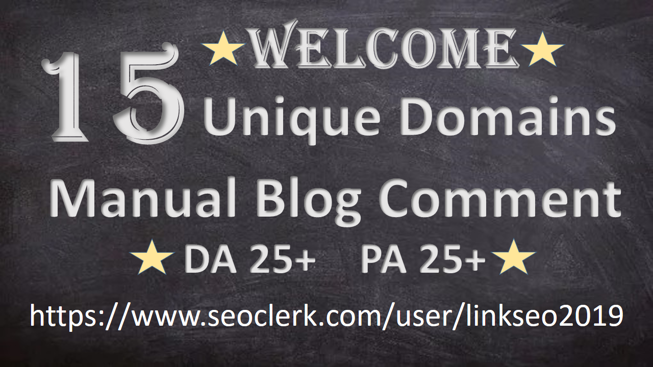 I will create 15 Dofollow Unique Domains blog comments