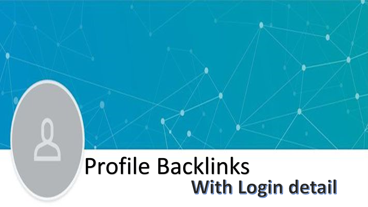 I will make 50 profile backlinks Unique Domains on top domains