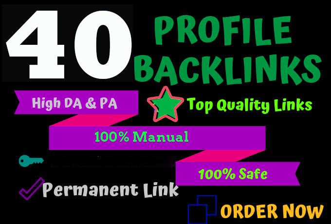 40 PR9 high DA/PA Safe Keyword Related Contextual Profile Backlinks Ranking Your Keyword