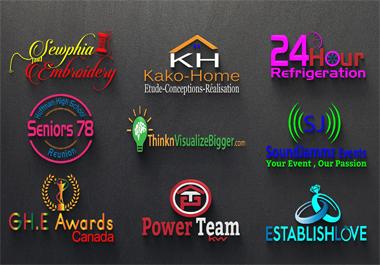 Modern Logo design 24 hours delivery