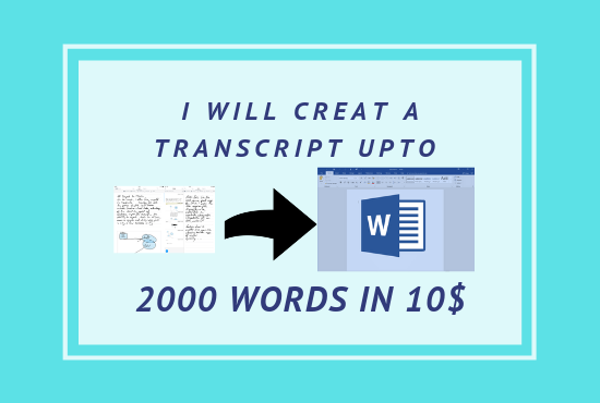 I Can Transcribe Text From PDF Or Image To Word For Just 24 Hours