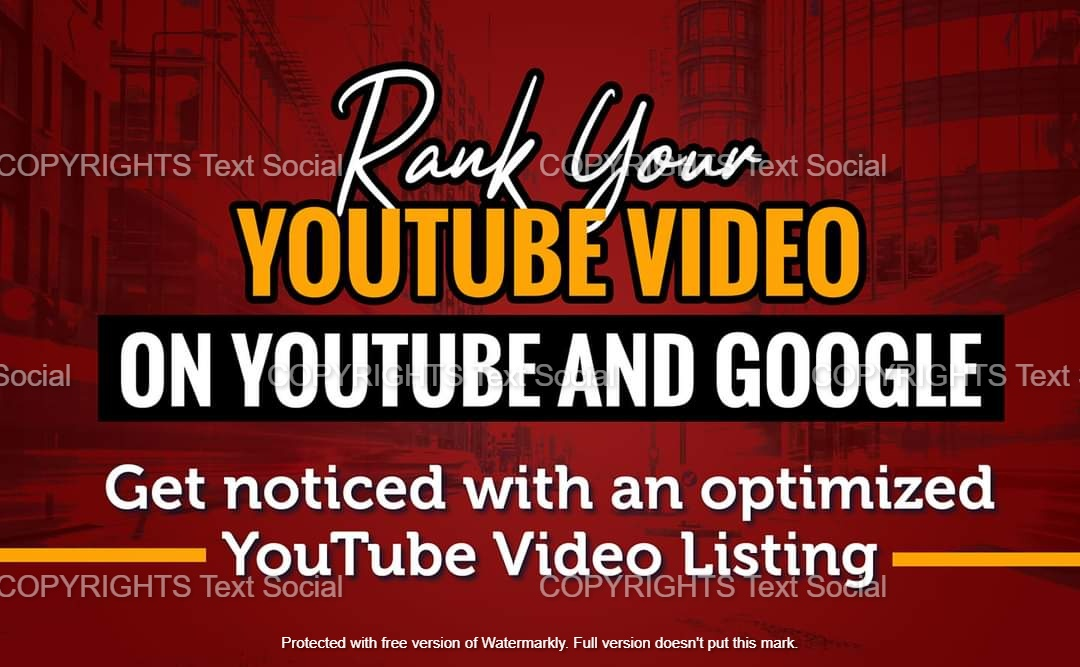 will rank youtube videos on page 1 with SEO optimization