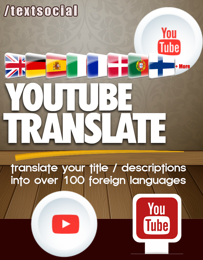 Translate one YouTube Title/Description - Ranking In 100+ Languages