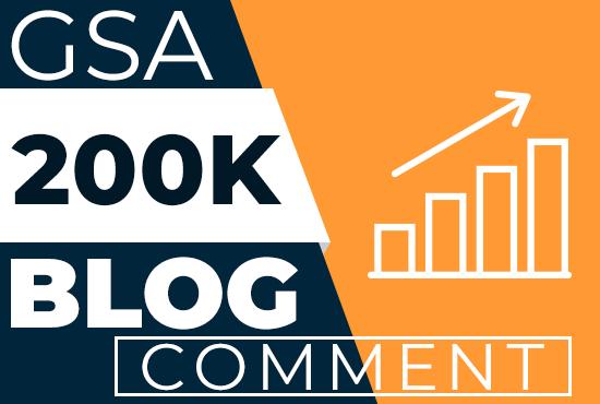 200K Live GSA Blog Comments Backlinks For Google Ranking