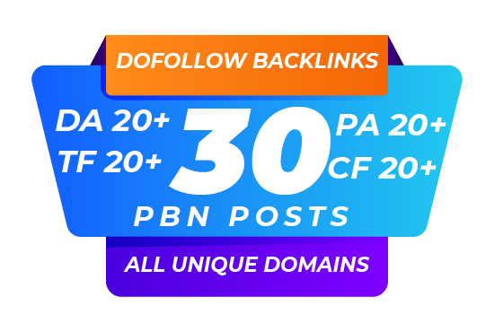 I will create 30 pbn high trust flow home page permanent post in 48 hour