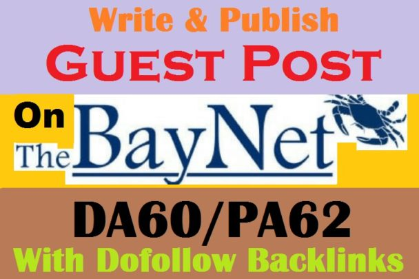 I will publish guest post on thebaynet permanent post in 48 hour