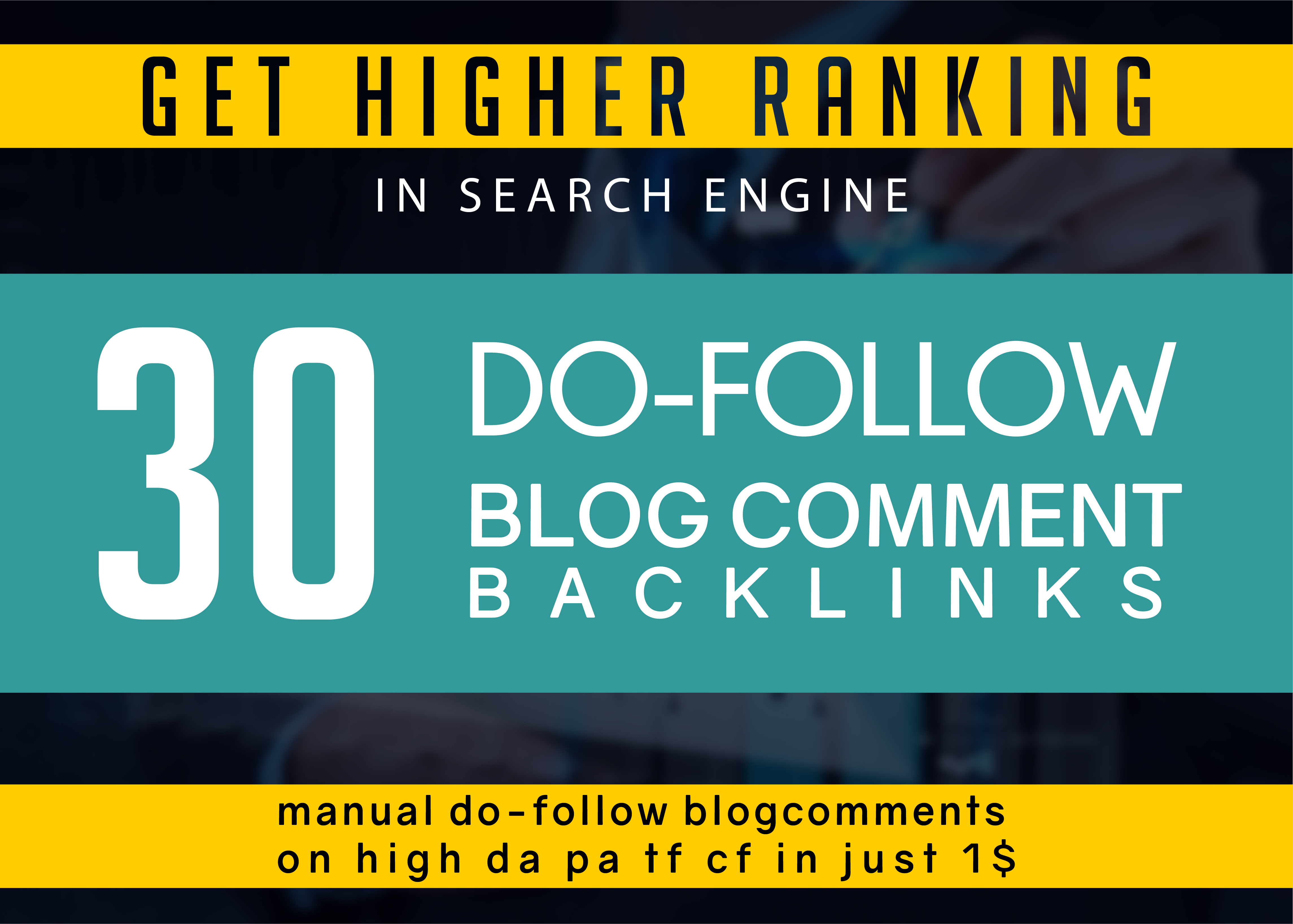 i make 30 Unique domain Dofollow Blogcomment Backlinks