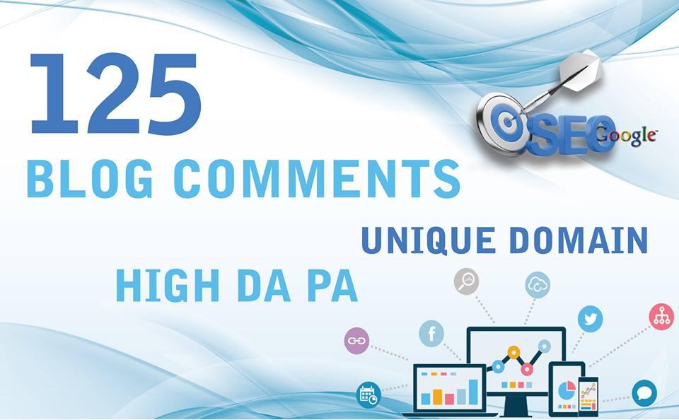DO 125 Do-Follow Low OBL Unique Permanent Blog Comment Backlinks