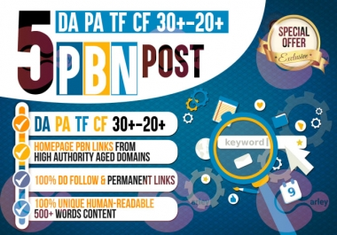 5 PBN Parmanent Post HomePage Do-Folow For High Authority Domain