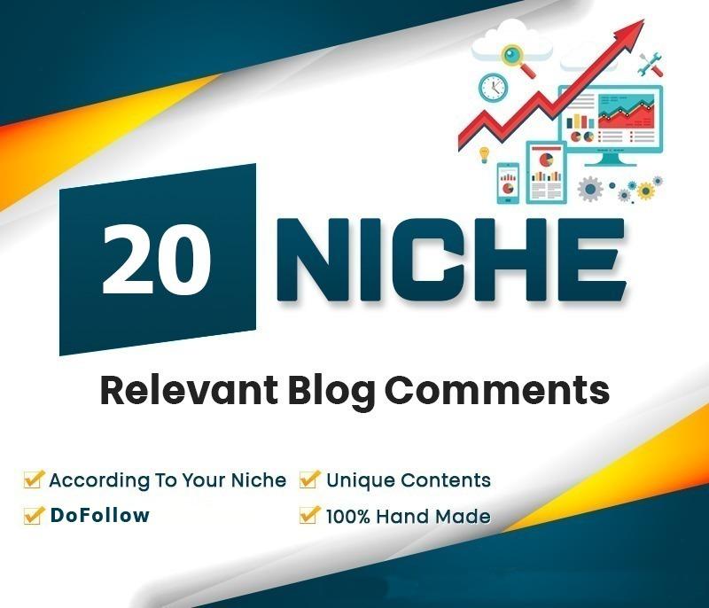 20 Do-Follow Niche Relavant Top Quality Parmanent Blog Comment Backlinks