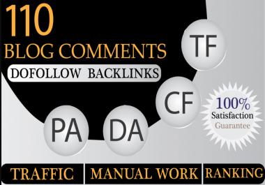 Provide 110 Do-Folow High DA PA TF CF Parmanent Blog Comment Backlinks