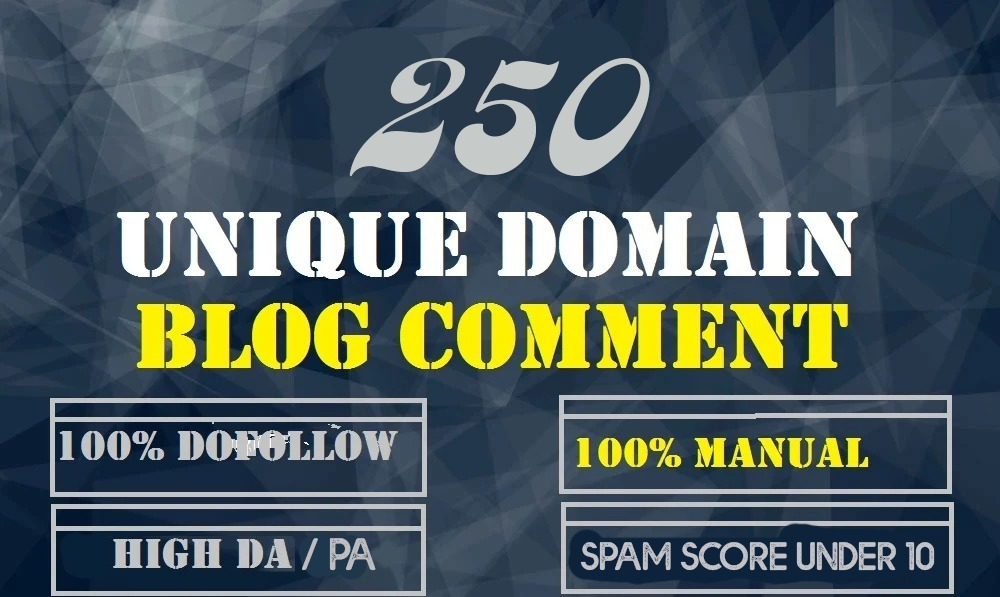 Create 250 Do-Follow Low OBL Unique Parmanent Blog Comment Backlinks