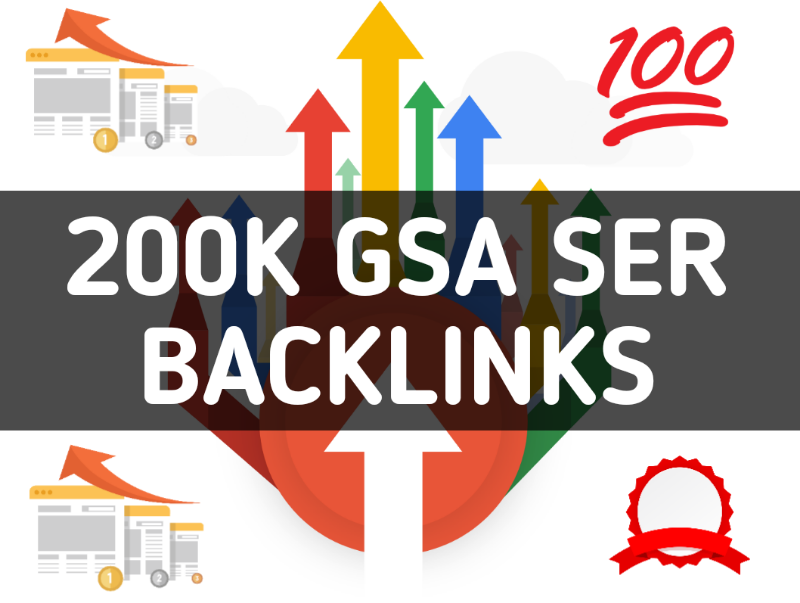 Will Create 200,000 Gsa,Ser,Backlinks For Seo