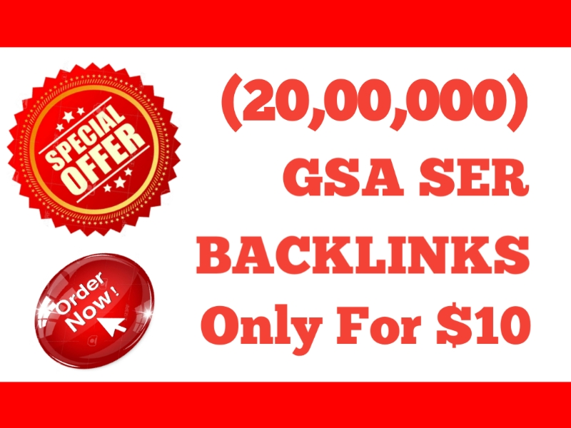 I Will Provide 2 Million GSA SER High Powerful SEO Backlinks For Fast Ranking