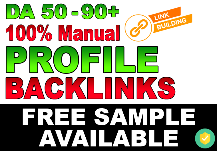 Create 10 Manual DA 50-90+ DoFollow Profile Backlinks