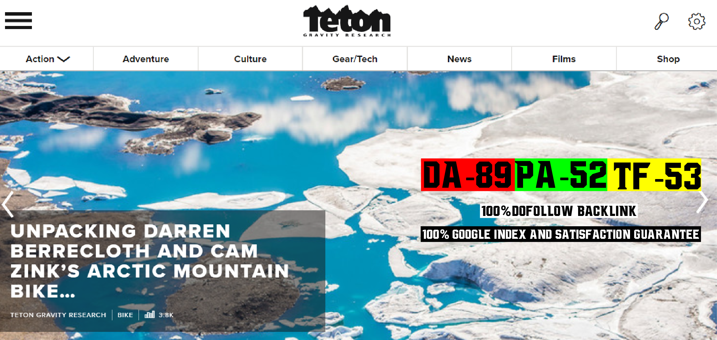 Write And Publish A Guest Post On Tetongravity DA89 Sport Blog