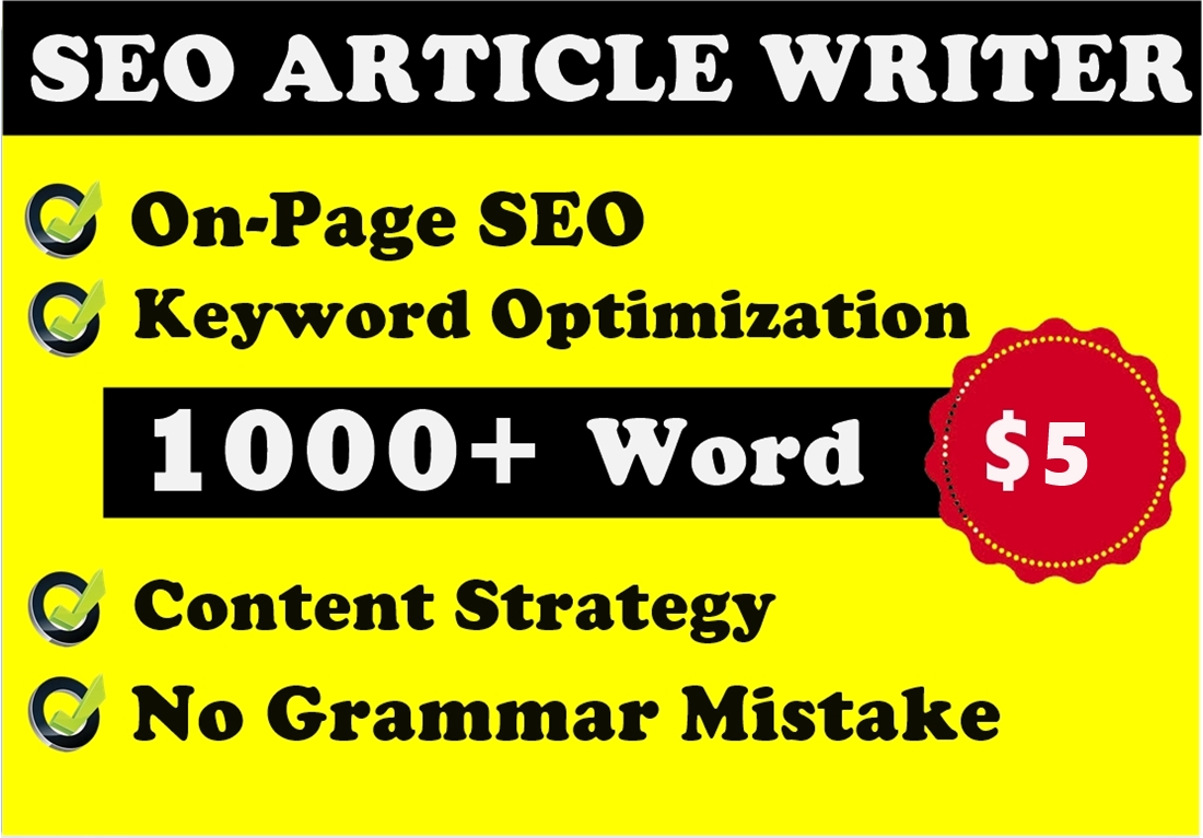 Write 1000 word SEO friendly article or blog