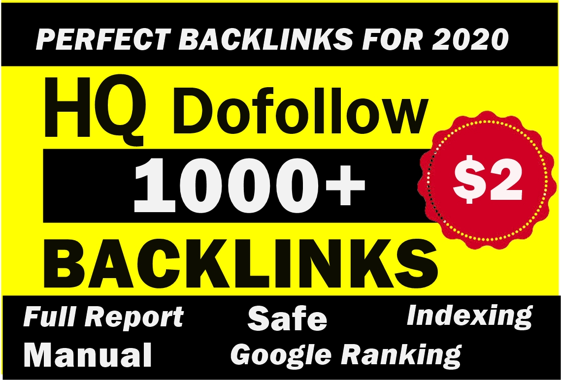 1000 Do-follow backlinks for Google Ranking