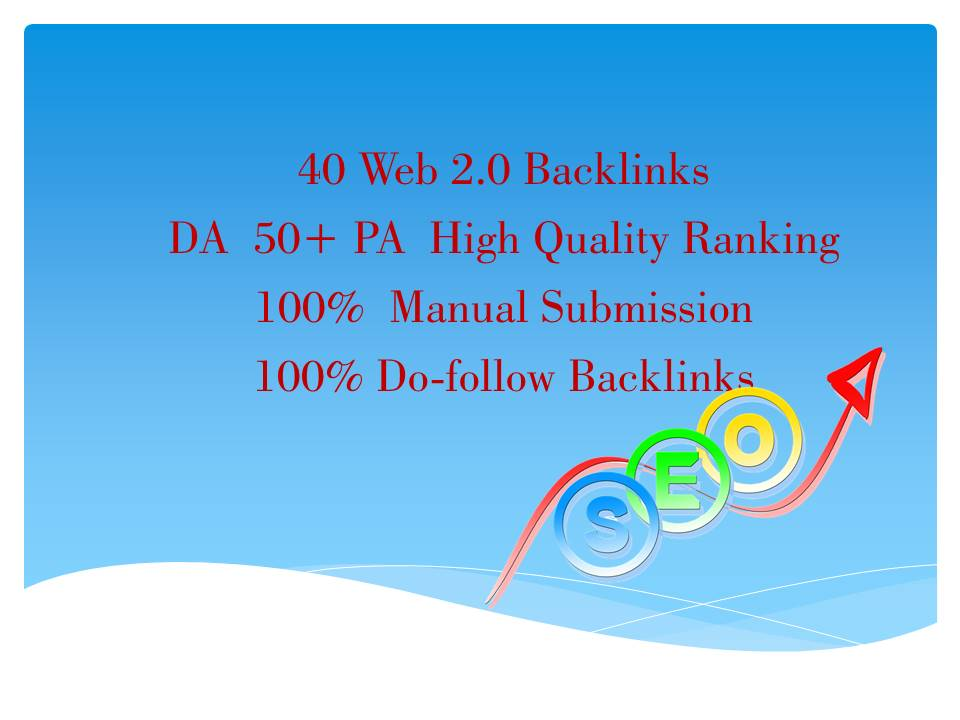 i will do web.2.0 backlinks DA 50+PA High Quality Do-Follow