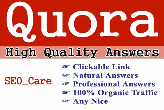 10 High Quality Quora Answer with Contextual link