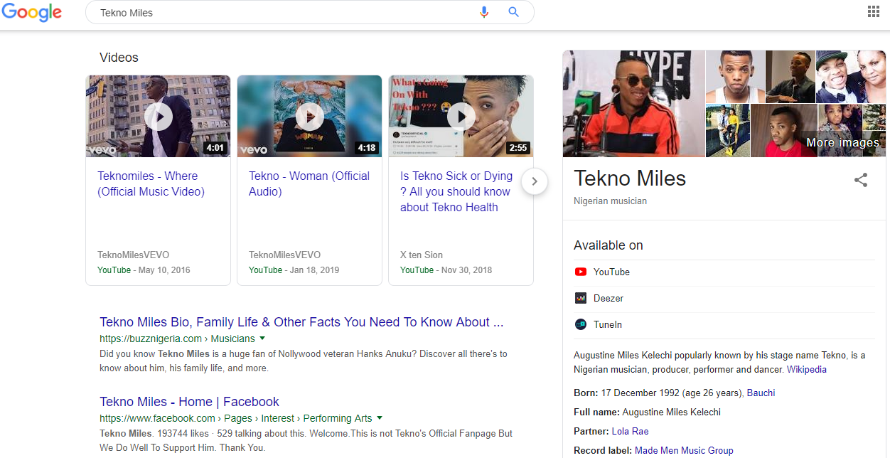 Get A Knowledge Graph As A Music Artist,  Record Label,  DJ or Industry Pros