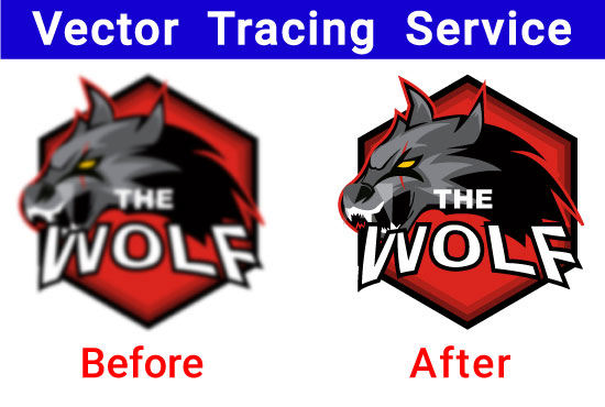 Vector Tracing Logo,  Icon,  Redraw Image Logo Redesign Raster To Vector Trace convert to vectorize