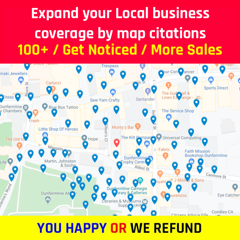 100+ Google Map Citations for local Business domination