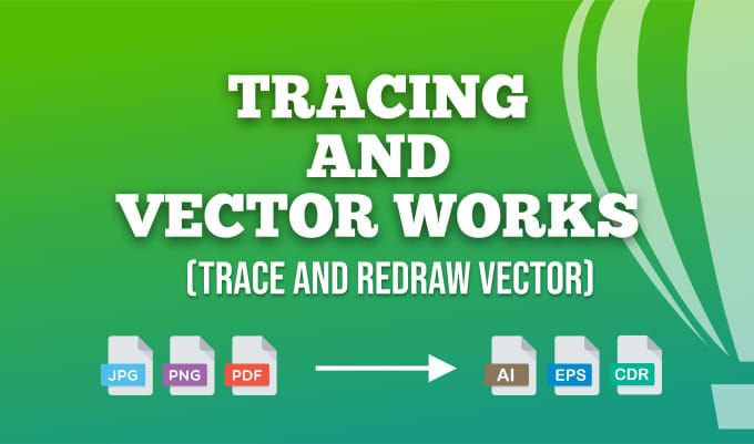 I will vector tracing, convert to vector, vectorize logo, trace