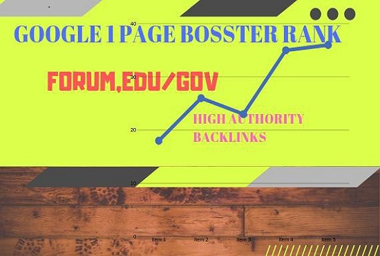 Google 1 Page Forum,Edu/Gov High Authority Backlinks