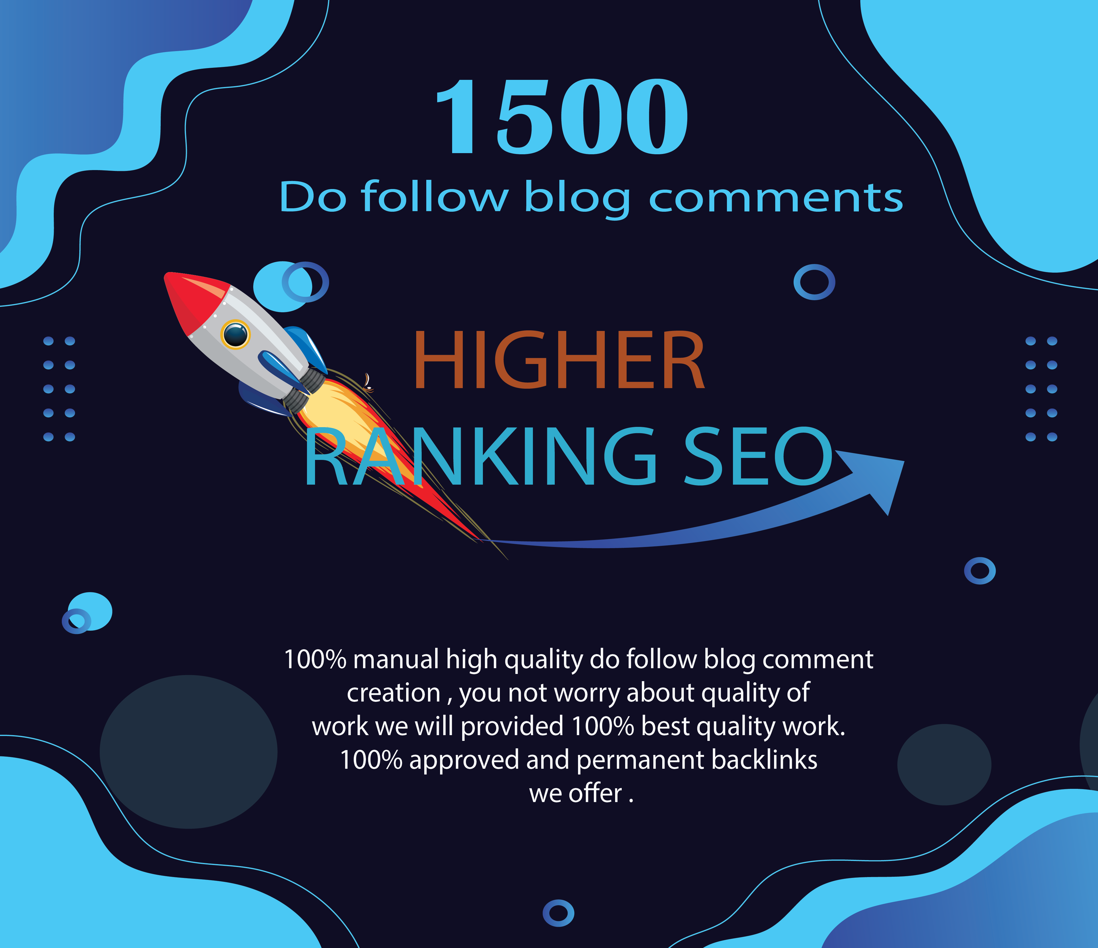 Backlinks High quality 1500 Dofollow blog comments
