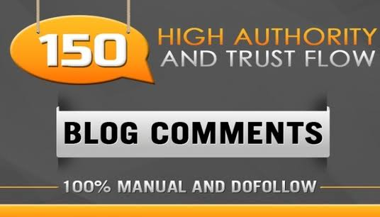 Backlinks High quality 150 Dofollow blog comments